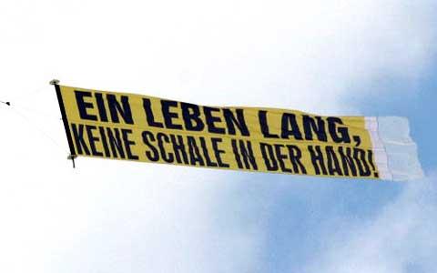 Flugzeugbanner aus Dortmund