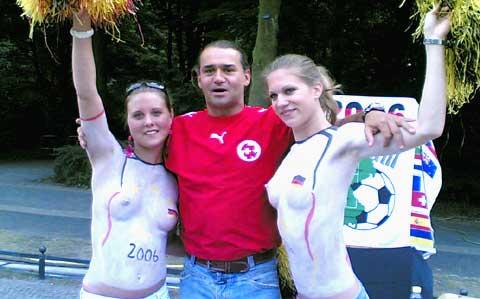 Bodypainting zur WM
